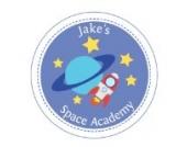 Individuelle Weltraum Akademie Wandtattoo von Stickerscape - Wandaufkleber (Großes Größe)