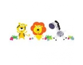 Dschungeltiere Wandtattoo von Stickerscape - Wandaufkleber (Großes Größe)