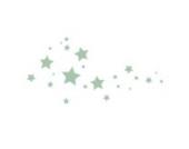 Sternen Wandtattoo von Stickerscape - Wandaufkleber (Großes Größe, Hellblau)