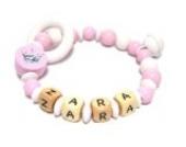 Premium Greifling Little Princess mit Namen in rosa und weiß