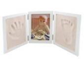 Unbekannt 3-D Bastelset Händeabdruck + Fußabdruck Rahmen Abdruck Kind Kinder Form Gipsformen Gips gießen Gips