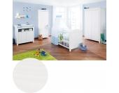 Komplett Kinderzimmer NINA, 3-tlg. (Kinderbett, Wickelkommode und 2-türiger Kleiderschrank), massiv/Weiß lasiert Gr. 70 x 140
