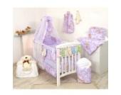 10tlg. Babybettwäsche Set, sort, 135x100cm Design 11
