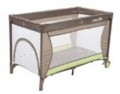 Babymoov Sweet Night Reisebett, stabil, kompakt, inklusive Matratze, braun/ grün