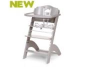 Childhome Treppenhochstuhl mit Tischplatte und Bügel versch. Farben (stone grey)