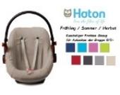 HATON BabyFit -- FROTTEE Ersatzbezug -- Frühling / Sommer / Herbst -- Universal Ersatz-Bezug für Babyschale, Autokindersitz z.B. für Maxi-Cosi, Römer etc. -- TAUPE --