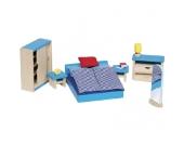Goki Puppenhausmöbel für das Schlafzimmer [Kinderspielzeug]