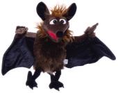 Matthies Living Puppets Handpuppe Gaston die Fledermaus 60 cm [Kinderspielzeug]