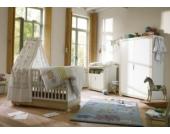 Komplett Kinderzimmer NATURAL HARMONY, 3-tlg. (Kinderbett, Wickelkommode und 2-türiger Kleiderschrank), Weiß/Südesche Gr. 70 x 140