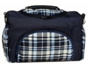 TP-36 Wickeltasche PIA von Baby-Joy XXXL Übergröße Navy kariert Windeltasche Pflegetasche Babytasche Tragetasche