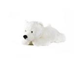 Eisbär Schneeflocke liegend - 60 cm - - Plüschtier von Steiner - handgefertigt in Deutschland - XXL Kuscheltier