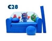 C28 Kindersofa Ausklappbar Schlafsofa Couch Sofa Minicouch 3 in 1 Baby Set + Kindersessel und Sitzkissen + Matratze