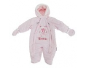Baby Schneeanzug mit Kapuze, Teddy Bär, Smile (Neugeborene) (Pink)