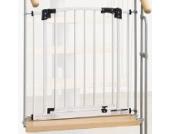 IMPAG ® Treppenschutzgitter Swing für Geländer | inkl.4 Y-Adapter passend für 73cm - 142cm | Höhe 77cm | ohne Bohren |4 Farben | einfache Montage | Treppen-Gitter Baby Kleinkind Hund