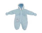 Baby Schneeanzug mit Kapuze, So Beary Cute (3-6 Monate (56-62)) (Blau)