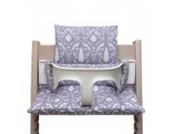 Blausberg Baby - Sitzkissen *41 FARBEN* Kissen Polster Set für Stokke Tripp Trapp Hochstuhl (Oxford Lila Flieder) alle Materialien OEKO-TEX ® Standard 100 zertifiziert - 100% made in Hamburg