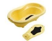 Rotho Babydesign TOP Badewanne mit Badewanneneinsatz vanilla honey perl
