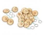 edumero Schlüsselanhänger Blume, 24 Stück