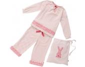 Piccalilly - Schlafanzug Punkte rosa im Stoffbeutel, kbA