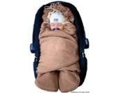 ByBoom® - Baby Winter-Einschlagdecke Das Original mit dem Bären, Universal für Babyschale, Autositz, z.B. für Maxi-Cosi, Römer, für Kinderwagen, Buggy oder Babybett, Farbe:Hellbraun/Beige