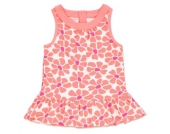 anna & tom Girls Kleid Flamingo flower print - bunt - Mädchen