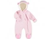 Little Melange Sweat Overall pink melange - Gr.Babymode (6 - 24 Monate) - Mädchen