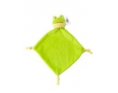 Plüsch-Schnuffeltuch Kuscheltier Schmusetuch Plüschtuch (Frosch)