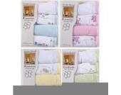 Luvable Friends 4er Pack weiche Baby Waschlappen, neutrale Farben