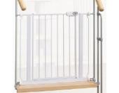 IMPAG ® Treppenschutzgitter Tom für Geländer | inkl. 4 Y-Adapter passend für 75cm - 148cm | Höhe 77cm | ohne Bohren | 4 Farben | einfache Montage | Treppen-Gitter Baby Kleinkind Hund
