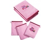 Kinderbutt Frottier-Set 5-tlg. rosa