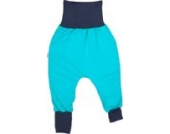 iobio Yoga-Pants Babyhose Crawlers türkis Bio-Baumwolle (50/56)