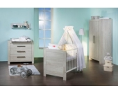 Komplett Kinderzimmer Nordic Cascina groß, 3-tlg. (Kinderbett, Umbauseiten, Wickelkommode und Kleiderschrank 3-trg.), Cascina Pinie Gr. 70 x 140