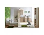 Babyzimmer Nico, 3-tlg. (Kleiderschrank, Wickelkommode, Kinderbett), Sonoma-weiß Gr. 70 x 140