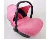 BAMBINIWELT kompl. Ersatzbezug für Maxi-Cosi CabrioFix 7-tlg, Bezug für Babyschale, Sommerbezug Cabrio Fix SCHWARZ/ROSA