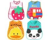 HappyCherry® Baby wasserdicht Lätzchen Bib Set Waschenfrei 4er Pack BB42 (zufällige Farbe)