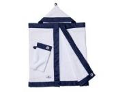 Kapuzenhandtuch Baby in blau weiß von nordic coast | Kuscheliges 100x60cm Waffelpique Handtuch + Waschlappen | Für Ihre Badetuch Baby Erstausstattung