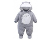 EOZY Baby Strampler Overall Winterjacke Onesie Unisex Cartoon (80-Brust 68cm, Grau)