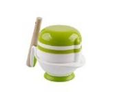 Tofern 8-in-1 BPA Freier Baby Kinder Entsafter Obstsaft Filter Babynahrung (Obst Gemüse) Mühle Schleifer mit Mikrowellengeeignetem Schüssel - Weiße Schüssel