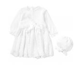 Baby Set aus Taufkleid + Mütze JOHANNA Gr. 86 Mädchen Kleinkinder
