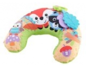 Fisher-Price CDN50 - Waldfreunde Spielkissen, mit Musik und Abnehmbaren Spielzeugen, Babyerstausstattung, ab 0 Monaten