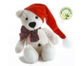 Baumwollteddy Bommel Weihnachtsedition - Zweiseitig mit je max. 10 Zeichen - von STEINER - Kuscheltier handgefertigt in Deutschland
