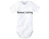 wellyou bedruckter Body Mamas Liebling Kurzarm, weiß
