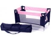 Bayer Chic 2000 Puppenreisebett mit Tasche (Pink Checker) [Kinderspielzeug]