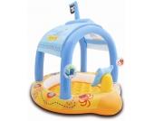 Intex Baby-Pool Piratenschiff mit Sonnendach & aufblasbaren Boden [Kinderspielzeug]