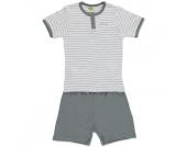 DIMO Girls Mini Schlafanzug 2-teilig grau