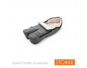 Stokke® Winter-Fußsack für Kinderwagen schwarz