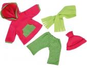 Bayer Design Kleidungsset Wichtel Leggings mit Pulli 40-46 cm (Pink-Grün) [Kinderspielzeug]
