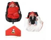 Babyschalendecke mit Schaf von HOBEA-Germany - versch. Farben, Farben Winterdecken:rot weiß