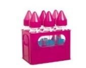 Glas-Babyflaschen im 6er Set - Farbe Rosa (6 x 250 ml)