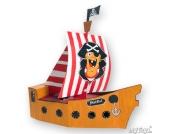 Bastelset Blanko-Piratenschiff